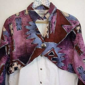 Vintage Keyhole Cowgirl Choker Shirt Circle T